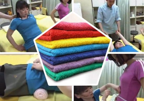 Японское упражнение с полотенцем для похудения