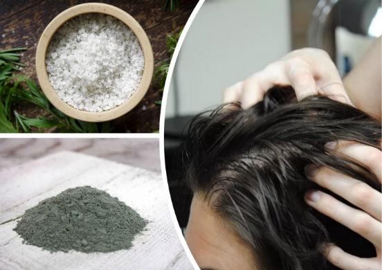 Соляной скраб для роста волос