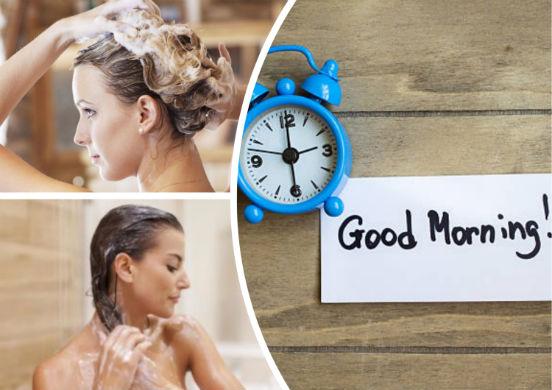 Когда лучше мыть голову утром или вечером