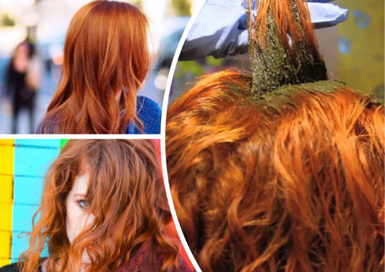 Как сделать волосы рыжее с хной
