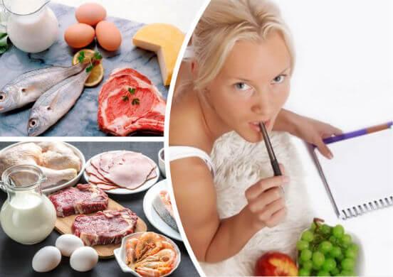 Меню белковой диеты - варианты для похудения, рассчитанные на 7, 10 и 14 дней