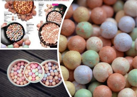 Пудра-шарики - косметический продукт необычной формы, предназначенный для корректировки лица с помощью цвета