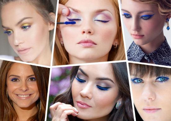 Синяя тушь для ресниц - оригинальный штрих в макияже или кому подходит это необычное декоративное средство?