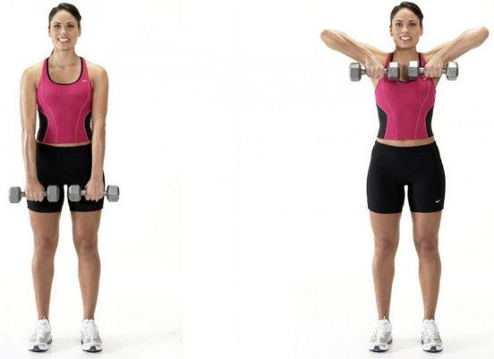 Упражнения для похудения рук и подмышек