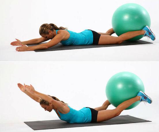 Упражнения на фитболе для спины или качаем мышцы и избавляемся от болей в позвоночнике