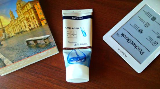 Пенка для умывания Collagen Pure Cleansing Foam от FarmStay - то, что нужно в зимнее время года