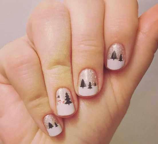 """Маникюр на новый год 2020 - атмосферные идеи для длинных и коротких ногтей, а также с наступающим символом """"Крысой"""""""
