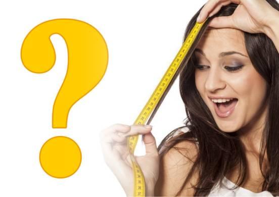 измерить длину прядей