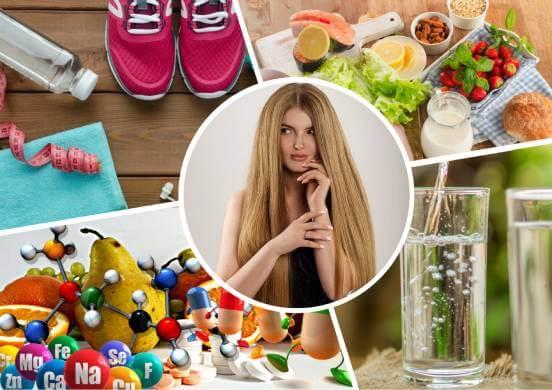 спорт, питание, вода и витамины